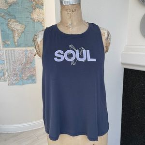 Soul Cycle muscle tank purple soft large